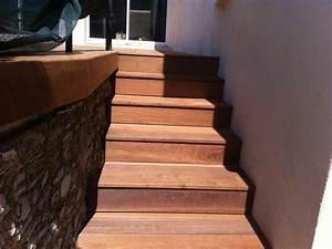 Marche Bois Escalier : marche escalier terrasse bois diverses ~ Premium-room.com Idées de Décoration