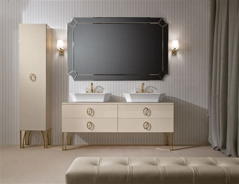 d12 high end italian bathroom vanity in ivory lacquer