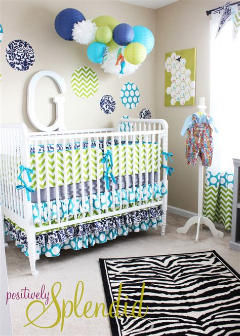 Baby Boy Nursery Tour  Positively Splendid {crafts