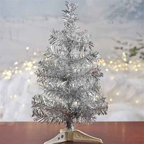 silver tinsel christmas tree retro silver tinsel tree trees and toppers and winter crafts