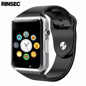 Rinsec A1 Smart Watch Clock Sync Notifier Support SIM TF ...