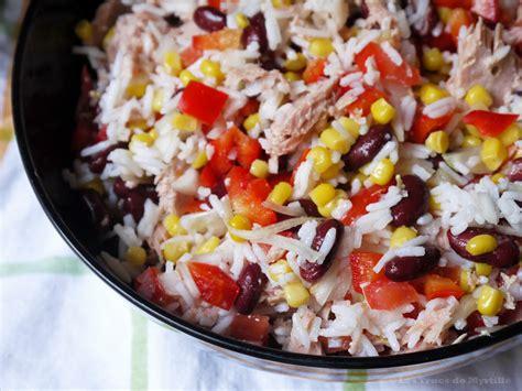 la cuisine aux images la cuisine de myrtille salade de riz aux haricots rouges et au thon