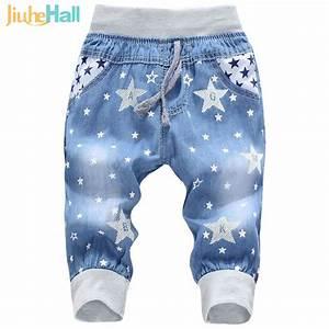 Hot Sale! 2016 New Kids Jeans Elastic Waist Straight Bear ...