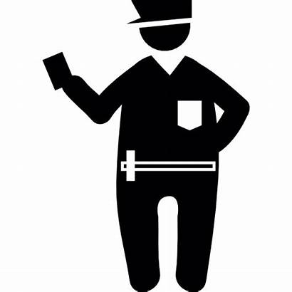 Icon Fine Police Security Fat Agent Policeman