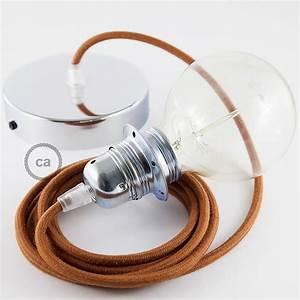 Cable Pour Suspension : lampe suspension pour abat jour c ble textile coton daim rc23 ~ Teatrodelosmanantiales.com Idées de Décoration