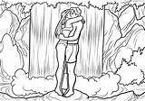 Waterfall Coloring Pages Waterfalls Printable Kiss Already Colored Adult Drawing Adults Bestcoloringpagesforkids Teens Books sketch template