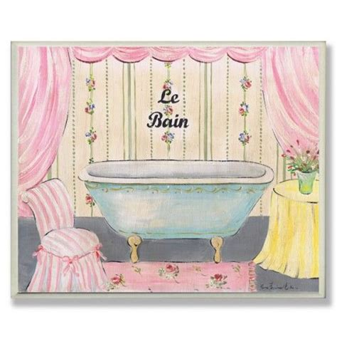 See more ideas about wall decor, plates on wall, porcelain painting. Le Bain Pink Chair/Drapes Rectangle   Hanging wall decor, Bathroom art, Pink chair