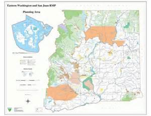 Washington State BLM Land Map