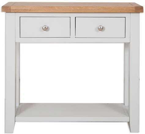 grey console table buy perth oak and grey painted console table 2 drawer 1485