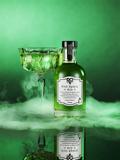 spooky gin cursed  real witch   perfect halloween drink