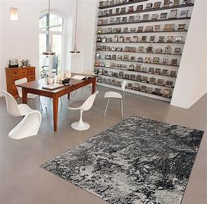 Tapis De Salle A Manger : tapis contemporain gris pour salle manger moon arte espina ~ Preciouscoupons.com Idées de Décoration