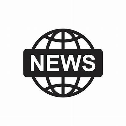 Icon Symbol Vector Newsroom Flat Illustration Newspaper