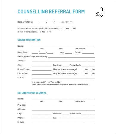 referral form template 9 free pdf documents download