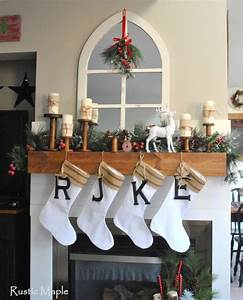 rustic maple our christmas mantel 2015 With metal letters for christmas stockings