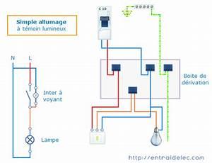 Branchement Interrupteur Temoin Lumineux Legrand : cablage interrupteur simple allumage t moin ou voyant ~ Dailycaller-alerts.com Idées de Décoration