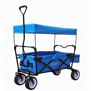 Bollerwagen Mit Dach Faltbar : fuxtec bollerwagen fx bw 100 blau faltbar fuxtec ~ Watch28wear.com Haus und Dekorationen