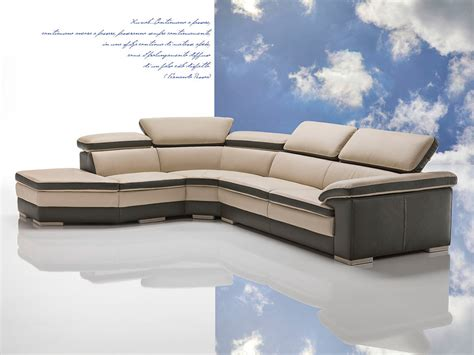 Contemporary Italian Leather Sectional Sofas by Samoa Contemporary Italian Leather Sectional Sofa