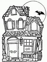 Coloring Haunted Sheets Popular Halloween Pages sketch template