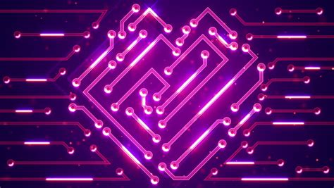 Purple Circuit Board Electronic Tech Beautiful Chip
