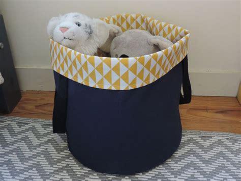 panier a linge chambre bebe panier à jouet ou à linge en coton enduit imperméable