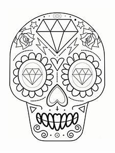 Tete De Mort Espagnol Coloriage T Te De Mort Mexicaine 20