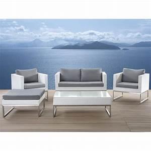 Salon De Jardin Acier : stunning table jardin acier blanc pictures awesome ~ Dailycaller-alerts.com Idées de Décoration