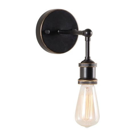 zuo miserite 1 light antique black gold and copper wall