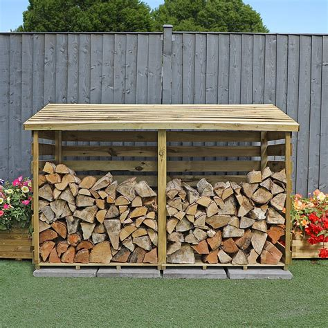 ft  ft waltons pressure treated wooden double log store waltons sheds