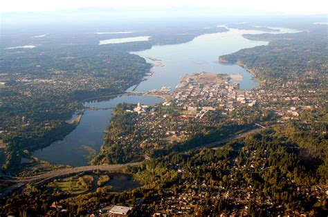 olympia wa aerial view  olympia  puget sound photo
