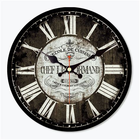 horloge cuisine vintage wonzom antique saat vintage wood wall clock