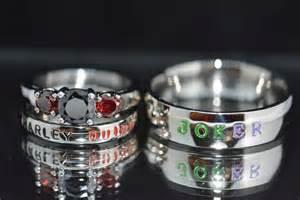 matching wedding band sets harley and joker rings black cz and garnet cz complete 3 wedding set joker