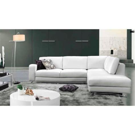 canapé blanc d angle canapé d 39 angle cuir blanc avec méridienne achat