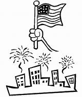 Coloring Flags Printable Independence Flag July 4th Usa Popular sketch template