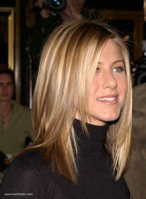 jennifer aniston sleek ironed hair  natural blended