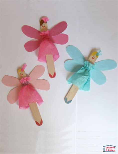 ribbon puppet craft des f 233 es 224 partir de b 226 tonnets de bois cabane 224 id 233 es 5333