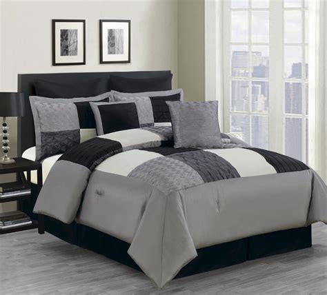 8 piece queen carson comforter set black gray ebay