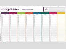 Excel Template Weekly Schedule calendar monthly printable