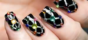 Top beautiful rhinestone nail art designs trending today