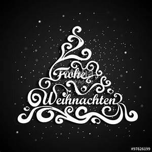 Tannenbaum Schwarz Weiß : frohe weihnachten beschrifteter weihnachtsbaum mit schnee im hintergrund grafik mit ~ Orissabook.com Haus und Dekorationen