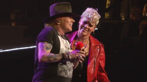 pink duets with axl of guns n roses on patience