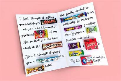 Chocolate Card Message Personalised Chocolates Gifts Personalized