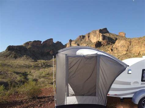 teardrop trailer clamshell tatg rear tent