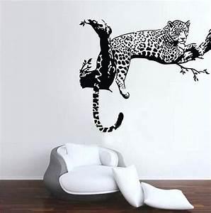 Elephant wall decal animal wild zoo leopards cheetahs