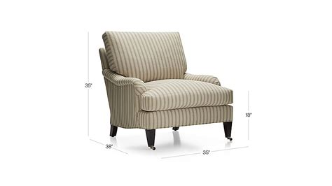 essex chair with casters napa stripe sand crate and barrel