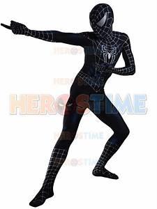 Black Raimi Spiderman Costume 3D Designed Cosplay Suit