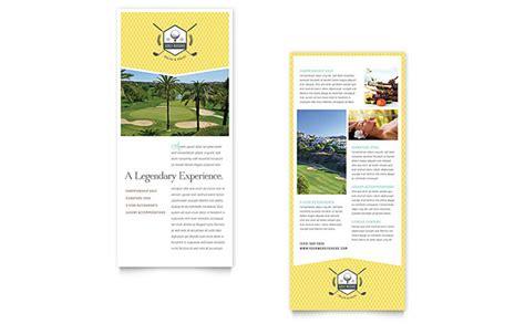 Golf Resort Rack Card Template