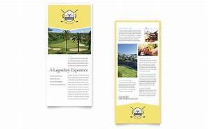 golf resort rack card template word publisher With rack card template for word