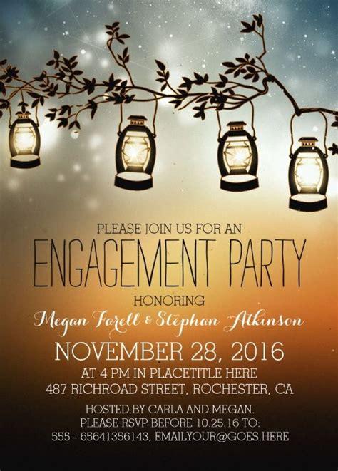 garden lights engagement party invite  paper invitation