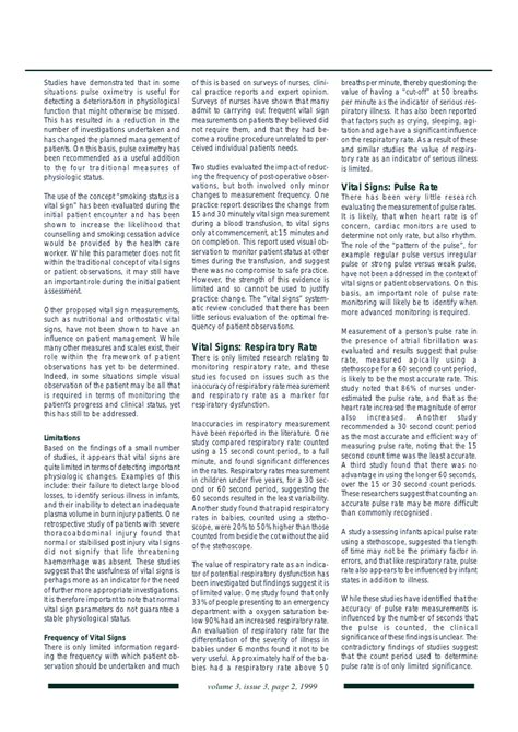 Vital signs article