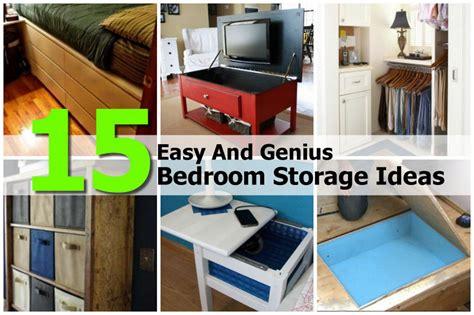simple diy storage ideas 15 easy and genius bedroom storage ideas